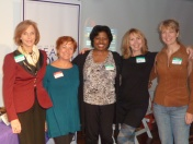 Networking Committee Members: Victoria Hale, Fran McGarry, Salon Series Chair, Richarda Abrams, Board Member, Networking Committee Co-Chair, Ivy Austin, Wendy Peace
