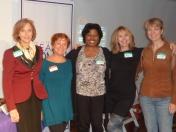 Networking Committee Members: Victoria Hale, Fran McGarry, Salon Series Chair, Richarda Abrams, Board Member, Networking Committee Co-Chair, Ivy Austin, Wendy Peace