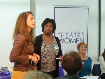 Miriam Kulick member, Richarda Abrams, Board Member, Networking Committee Co-Chair, Fran McGarry, Salon Series Chair