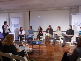 Richarda Abrams, Board Member, Networking Committee Co-Chair, Panelists: Theresa Hubbard, Program Associate for Fiscal Sponsorship, Fractured Atlas, Yana Landowne, Director and Advocacy Committee Co-Chair, Andrea Bertola, NY Website Designer & Artistic Director of NY Film Shop, Haley Ward, Online Marketing Associate, Wicked the Musical, Katie Rosin, President, Kampfire PR and Marketing, Michael Roderick, CEO Small Pond Productions, LLC, Fran McGarry, Salon Series Chair