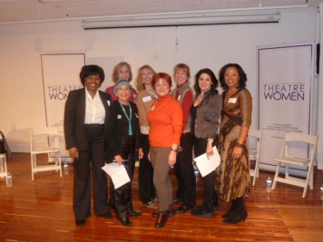 Networking Committee Members: Richarda Abrams, Board Member, Networking Committee Co-Chair, Victoria Hale (back), Dorothy Leeds, Board Member (front), Ivy Austin, Fran McGarry, Salon Series Chair, Wendy Peace, Romy Nordlinger, Networking Committee Co-Chair, Cynthia Robinson