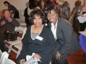 Marshaline Letcher, Playwright, Richarda Abrams, Board Member, Networking Committee Co-Chair