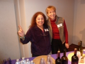 June Rachelson-Ospa, Wendy Peace (Networking Committee Members at refreshment table)